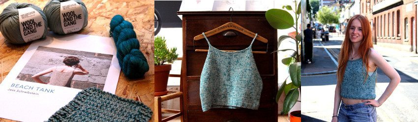 Beach Tank, Jess Schreibstein, Wool and the Gang, Shiny Happy Cotton, Malabrigo Lace