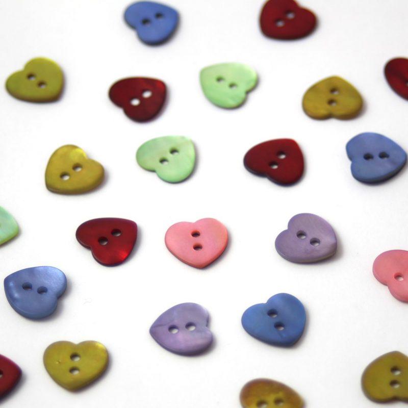 Textile Garden, Iridescent Shell Buttons
