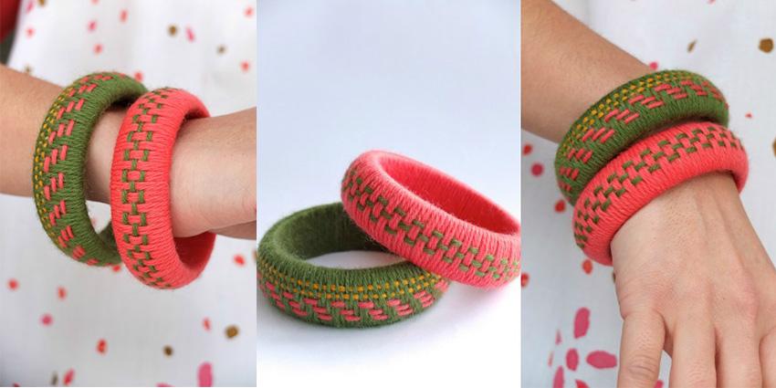 yarn left over bangles