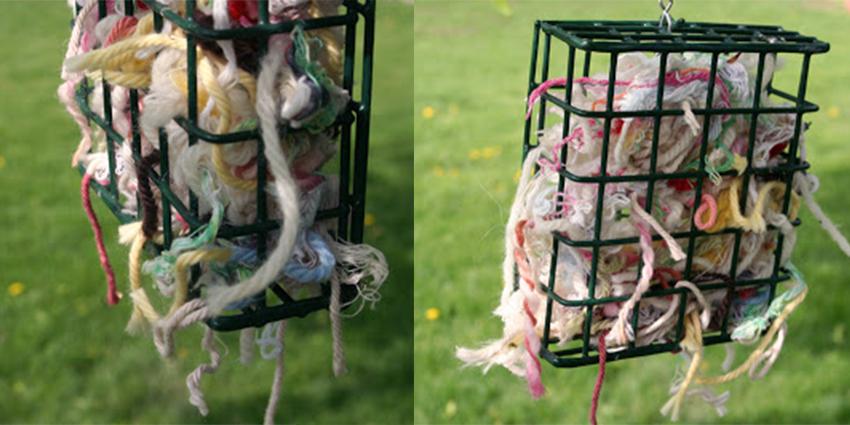 left over yarn for birds