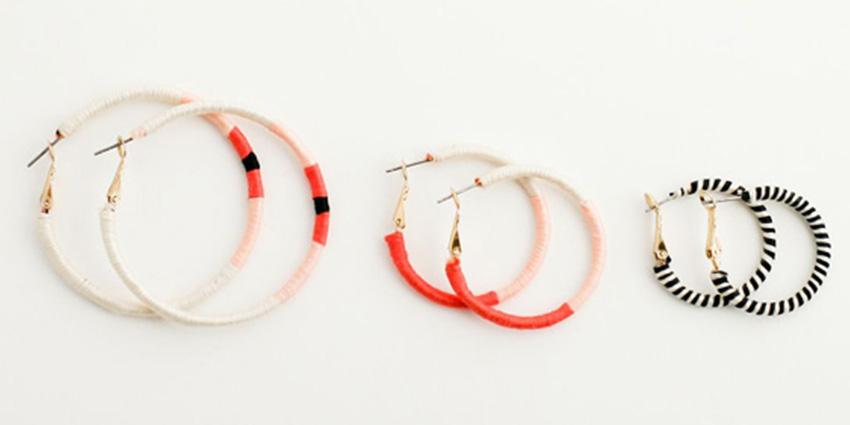 leftover yarn earrings