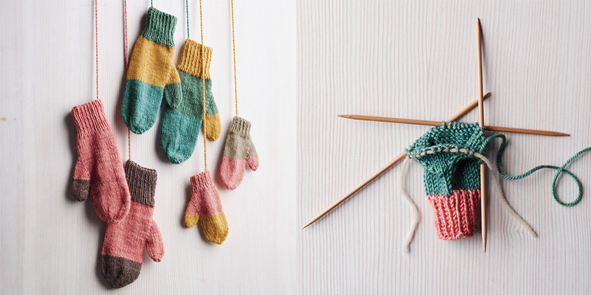 yarn left over mittens