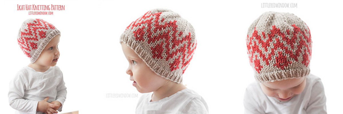 769d19031c9 We love this colour work beanie by Cassandra May and think contrasting  hanks of Malabrigo Rios would work perfectly for this fun ikat pattern.