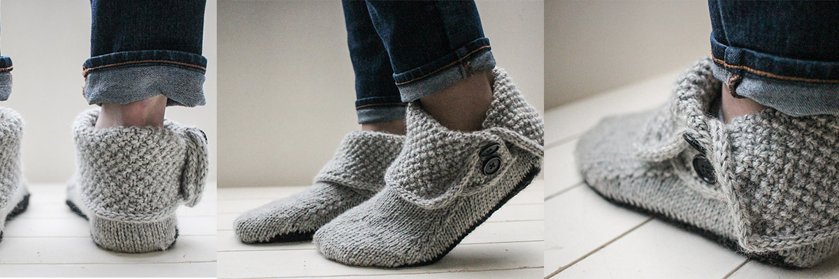 3-in-1 Button Boots by Bekah Knits