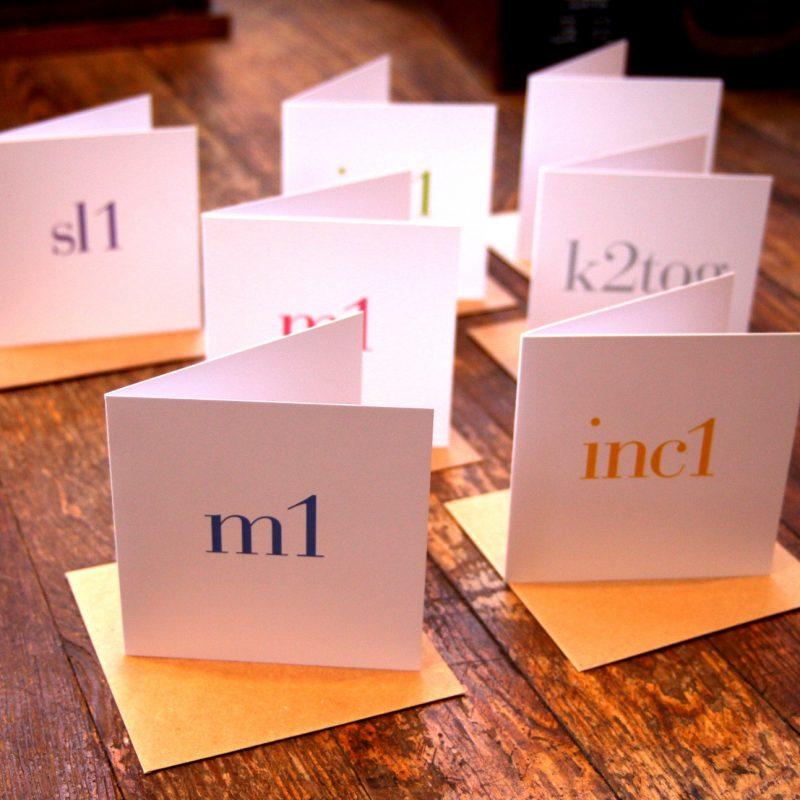 Tillyflop, Abbreviations cards