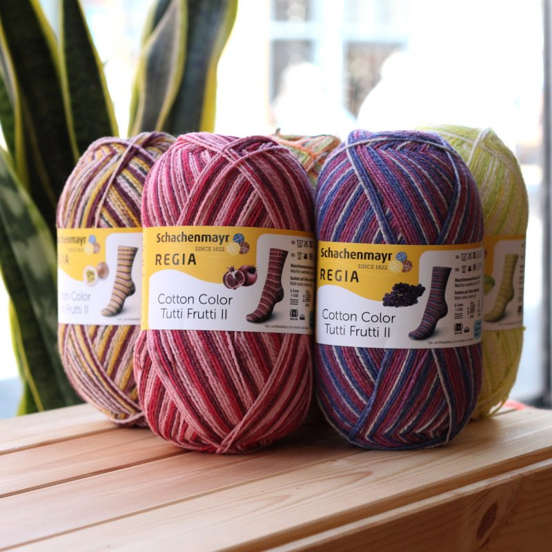 Regia Tutti Frutti, Cotton, Sock Yarn