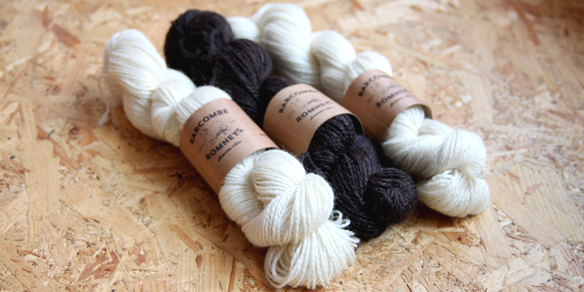 Romney, Made in Sussex, DK, Black Welsh Moutain, Barcombe Romney, British Yarn