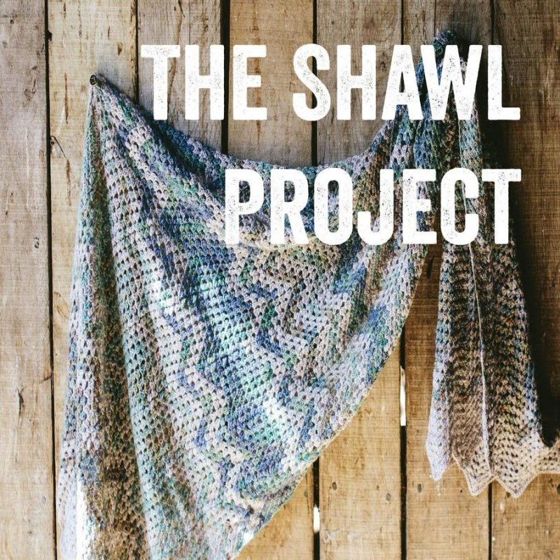 The Shawl Project, Crochet, Shawl, Laceweight