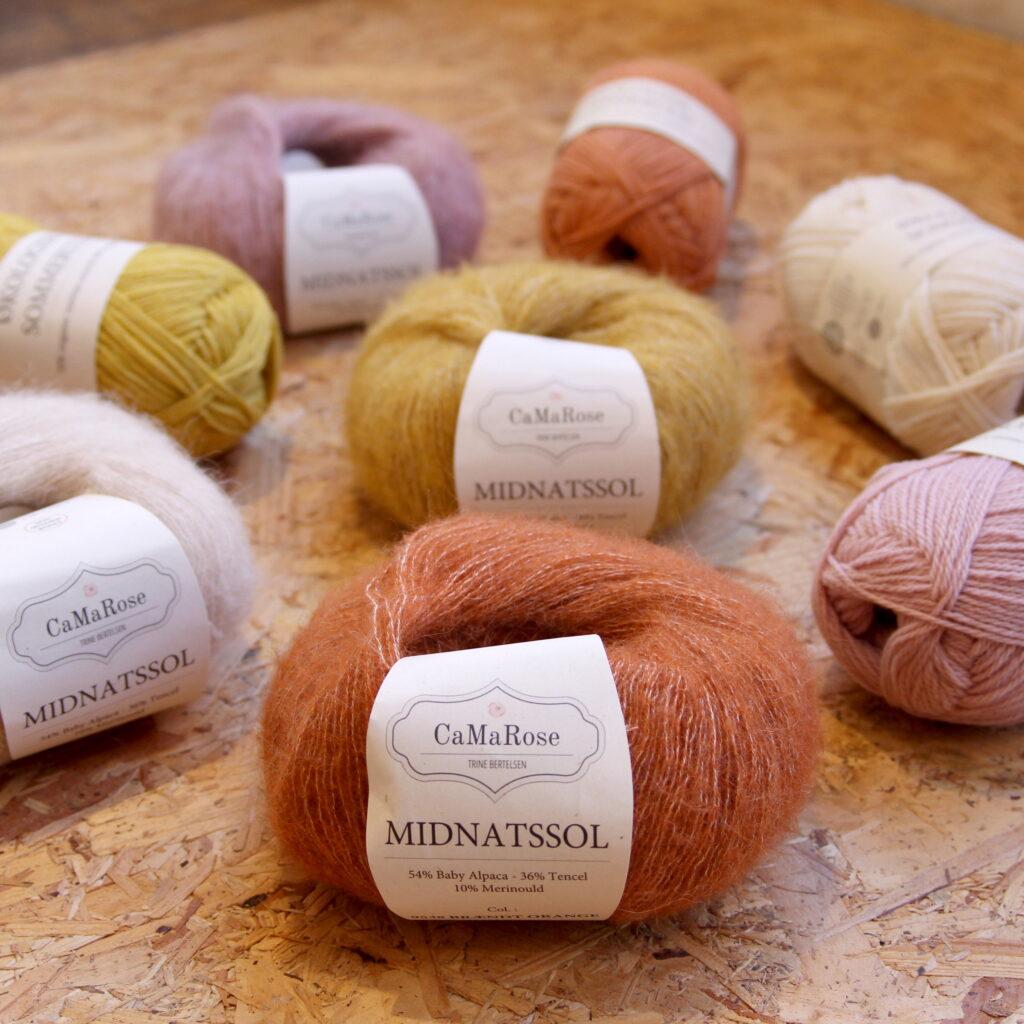 CaMaRose, Midnatssol, Organic Summer Wool, Big Chevron